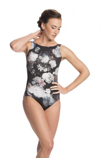 03b9823ad75d AinslieWear Ladies Leotard - Sara Boatneck with Ice Flower Mesh ...